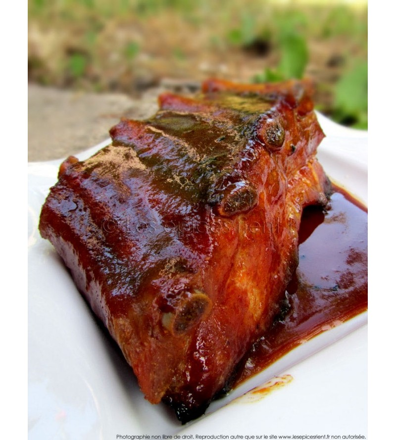 Ribs de porc sauce barbecue
